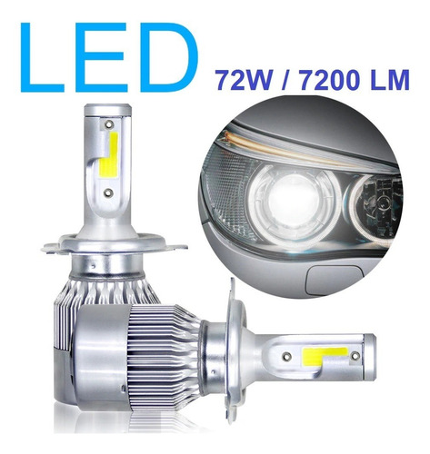 Kit Lampada Led Automotiva C6 H1/h3/h4/h7/h11/hb3/hb4/h27 Original