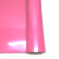 Filme para estampa - power film (pvc) larg. 0,50 m rosa