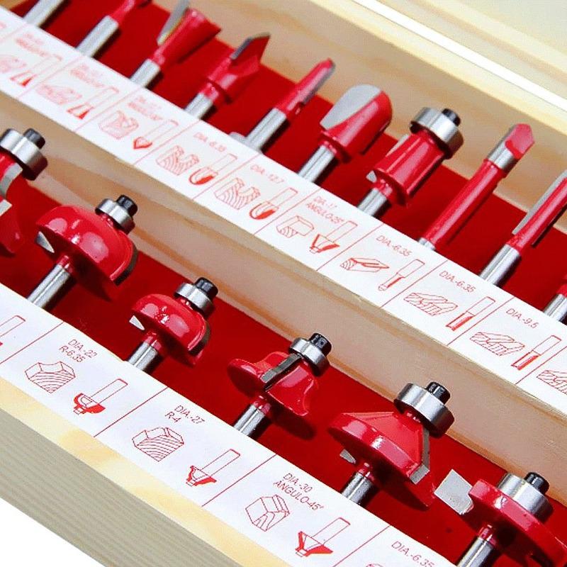 """Kit Tupia de Coluna 12mm 1650W RP2301FC Makita 110V + Kit de 24 Fresas para Madeira 1/4"""""""
