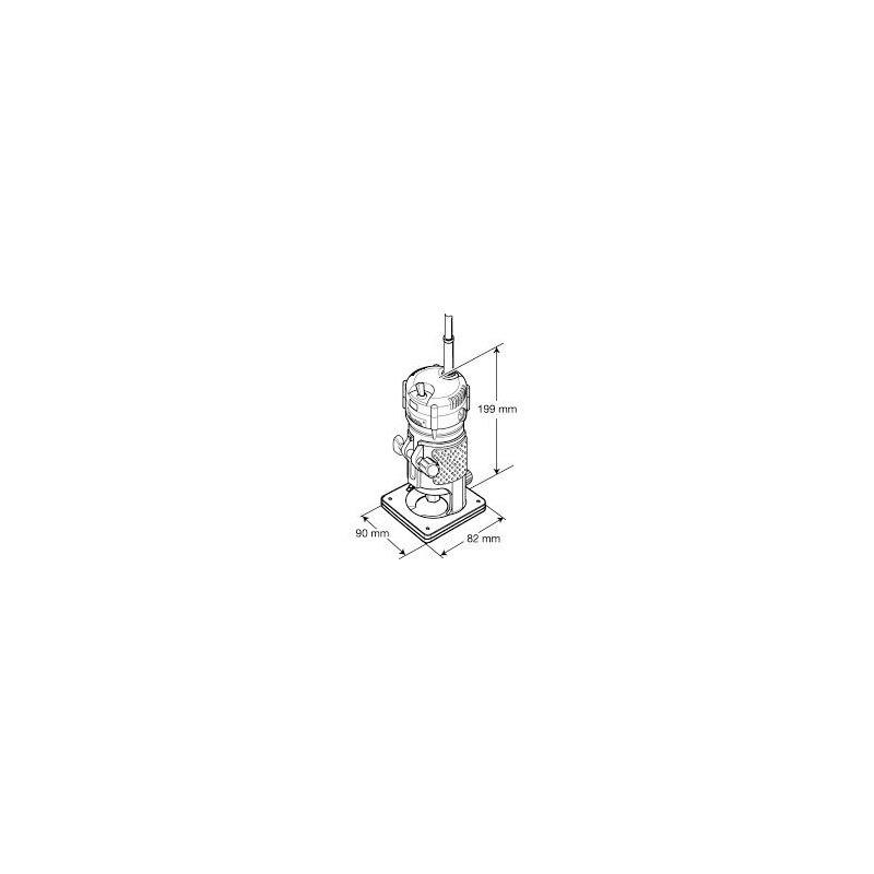 "Kit Combo Tupia 6mm 1/4"" 530 Watts 3709 Makita + Kit de 12 Fresas para Madeira Haste de 1/4"" CQT012"
