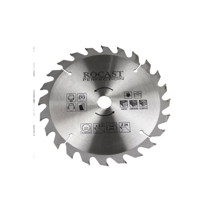 Serra circular MD 7.1/4pol. X 24D Furo  20x16-Rocast