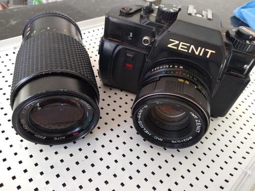 Máquina Fotográfica Zenit 122 + Tele 210mm  Original