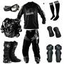 Kit Equipamento Insane Motocross Trilha Pro Tork 7 Itens