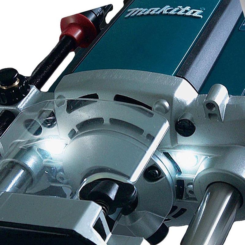 """Kit Tupia de Coluna 12mm 1650W RP2301FC Makita 220V + Kit de 6 Fresas para Madeira 1/4"""""""