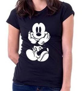 Camiseta Mickey Sentado - Desenhos - Moda - 100% Algodão Original