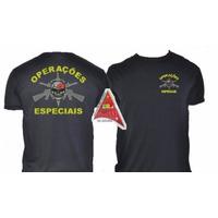 Camisa Operações Especiais - Preta  Bordada