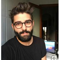 fde4abfa3 Comprar Óculos Sem Grau Masculino Redondo Geek Nerd Preto Promoção