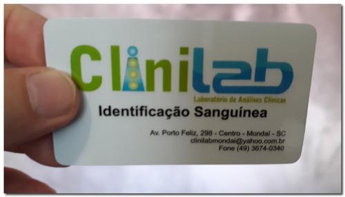 250 Cartões Visita Pvc Cristal 0,50 Mm 4x0 Ac #01