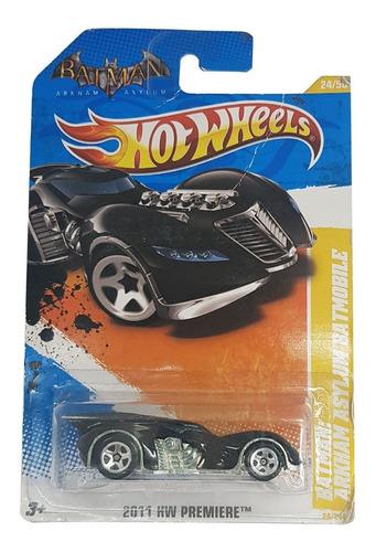 Carrinho Hot Wheels 1/64 Batman Batmobile Arkham Asylum 2011 Original