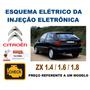 Esquema Elétrico Injeção Citroen Zx 1.4 1.6 1.8 Tabela