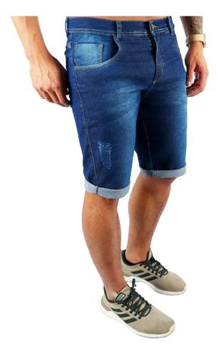 Kit Com 3 Shorts Jeans Bermuda Masculina Colorida Escolha Original