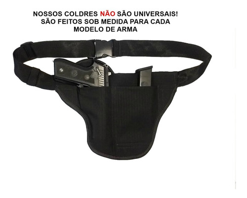 Coldre Cueca Velado Dissimulado Com Porta Carregador/algemas Original