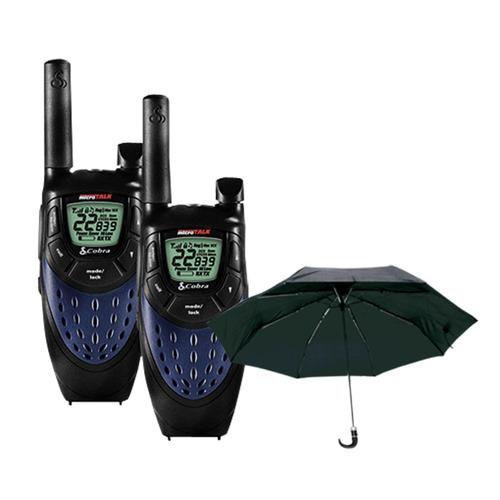 Conj. Rádio Comunicação ( par ) Cxt425 + Guarda Chuva S / frete
