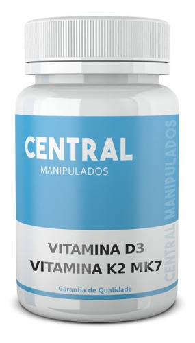 Vitamina K2 100mcg + Vitamina D3 10.000 Ui 120 Cáps Original