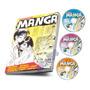 Curso Mangá Desenhando Rápido Fácil Livro 3 Dvds Arthur Gar