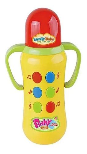 Brinquedo Bebê Infantil  Mamadeira  Com Som E Luz Original