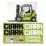 Kit Adesivo Gráfico Empilhadeira Clark Cmp25l Etiqueta Mk