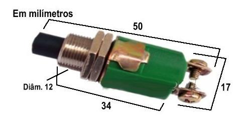 Chave Margirius Cs-390 Push Button- 1a - Monofásica Original