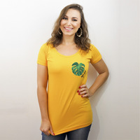 CAMISETA MOSTARDA - MONSTERA