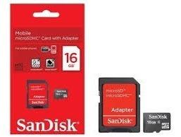 Cartão De Memória  Micro Sd 16gb Com Adaptador Sd Original