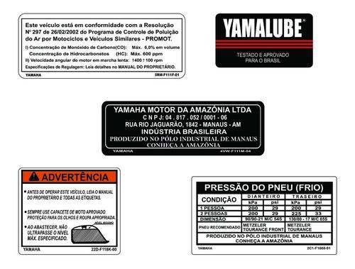 Etiquetas De Advertência Xt 660   Yamaha Xt 660   F   Original