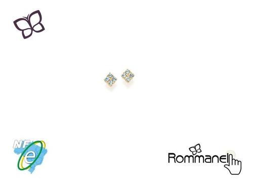 Brinco Infantil Losango 8 Cristais (par) Rommanel 525118 Original