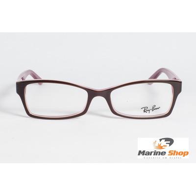 Óculos Ray-Ban em Acetato estilo Gatinho - Modelo Rb5234 - Vinho ... 1b16246f57