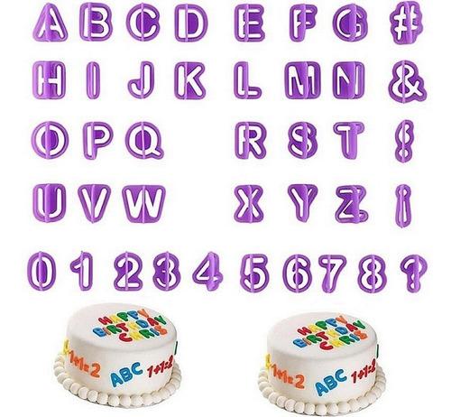 Cortador Letras Alfabeto Biscuit Pasta Americana Bolo Número Original