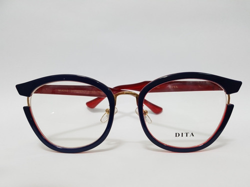 46b38f3b8 Armação Oculos Grau Feminino Dita Azul/ Vermelho - R$ 129 en Melinterest