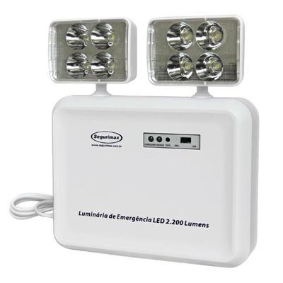 Encontre os melhores preços em Luminária de Emergência 2200 Lumens de Led com 2 Faróis da Segurimax é danielEletro. Um choque de ofertas é danielEletro.