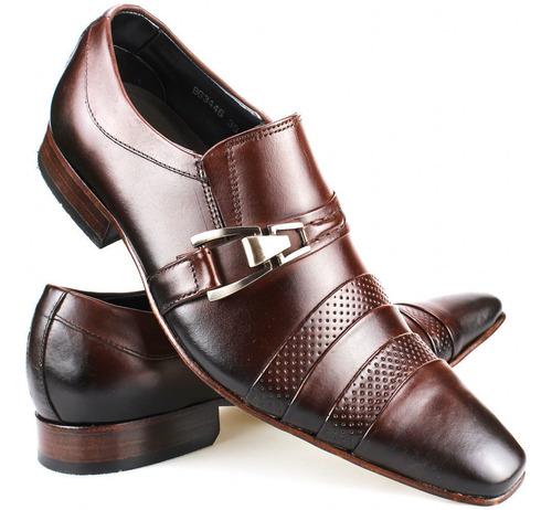 Sapato Social Masculino De Couro Legítimo Bico Fino Original