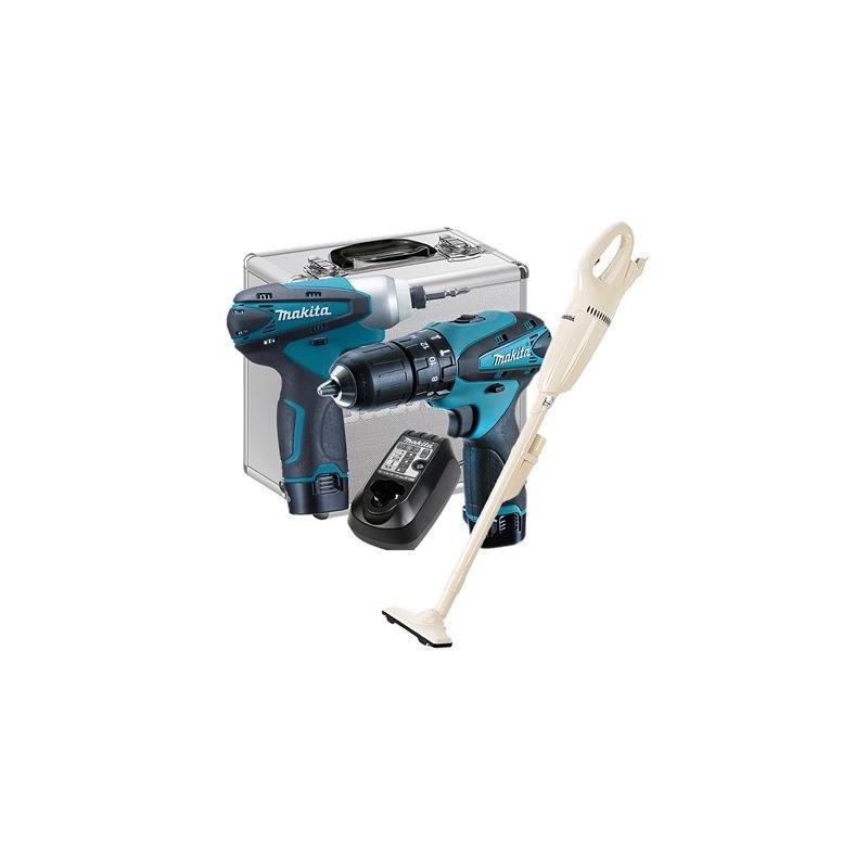 Kit Combo DK1493 Furadeira e Parafusadeira HP330D+TD090D e Aspirador de Pó CL100DZ - Makita - Bivolt