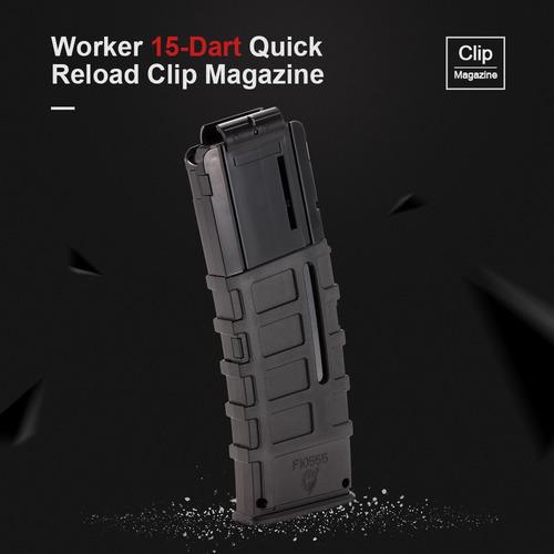 Worker 15 Dardos Quick Recarregar Clipe Magazine Molde Injeç Original