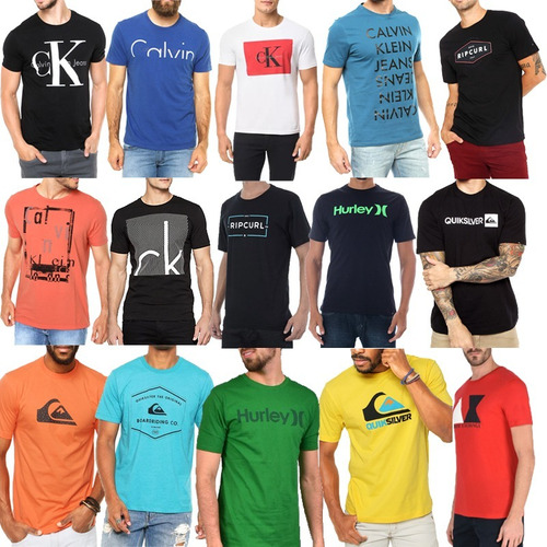 Kit 10 Camisa Masculina Várias Marcas Atacado