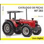 Catálogo De Peças Trator Massey Ferguson Mf 283