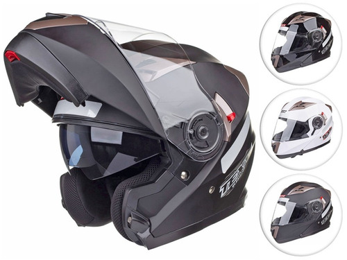 Capacete Moto Texx Gladiator Escamoteavel Robocop Articulado