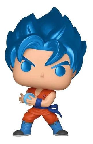 Boneco Funko Pop Dragon Ball Super Goku Blue Kamehameha 563 Original