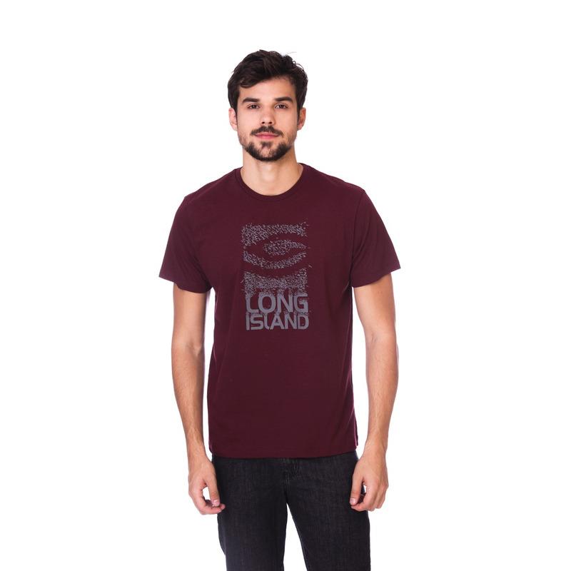 Camiseta Long Island GL Bordô