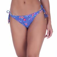 Calcinha Summer Soul Ripple Com Amarração Jeans Floral
