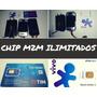 Chip M2m Telemetria Tim Ou Vivo plataforma app Ilimitado