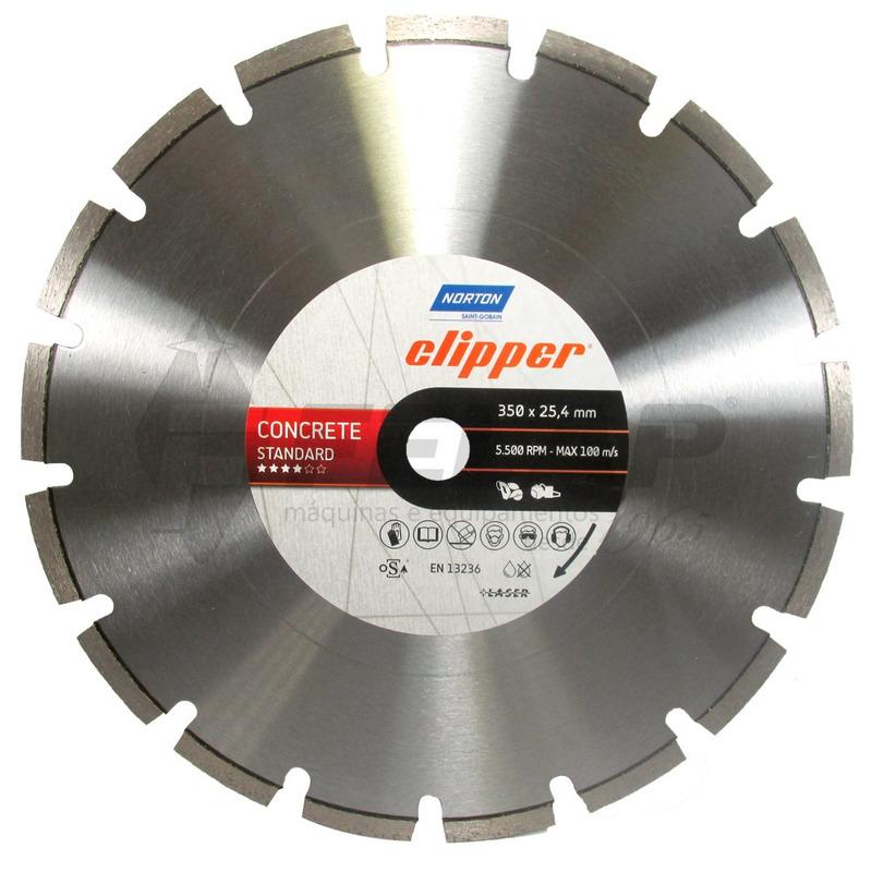 Disco Diamantado Norton Clipper Concrete STD 350x25,4mm