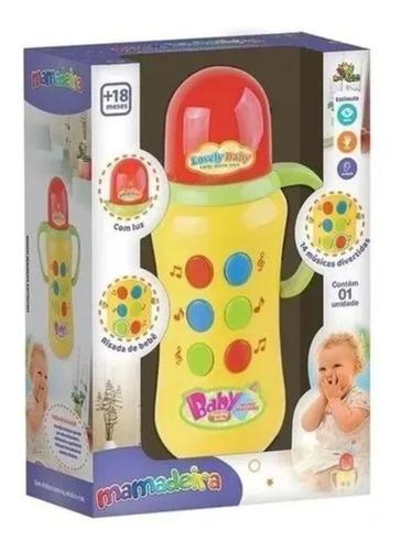 Brinquedo Musical Infantil Mamadeira Toca Musica Luzes Bebe Original