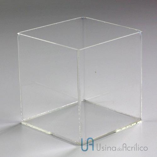 Caixinhas De Acrílico Com Tampa De Encaixe 10 X 10 X 10 Cm