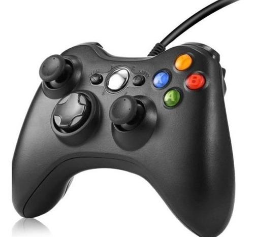 Controle Manete Xbox 360 Com Fio Joystick Slim Preto Original