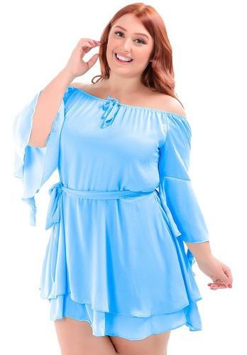 Vestido Ciganinha Ombro A Ombro Tamanhos Grandes Plus Size Original