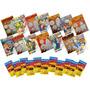 50 Livrinhos Infantil Colorir 50 Cx Giz De Cera 6 Cores