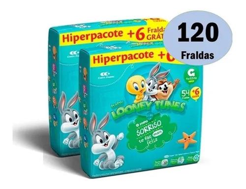Kit Fraldas Looney Tunes Tamanho G Promoção Atacado Barato Original