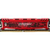 Memória Gamer Crucial Ballistix Sport 8gb DDR4 2400Mhz Vermelha by Micron Original