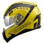 Capacete Cross Bieffe B40 Road Racer Amarelo Óculos Interno