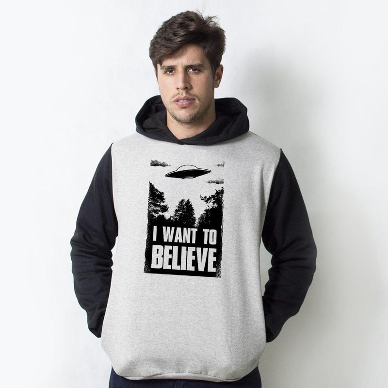 MOLETOM RAGLAN - I WANT TO BELIEVE